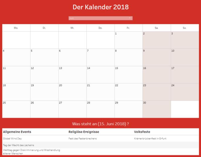 Kalender in Tableau Andre Göhler
